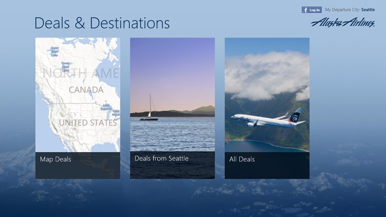 Alaska Airlines Deals & Destinations screen shot 0