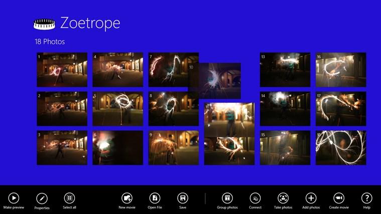 Zoetrope screen shot 2