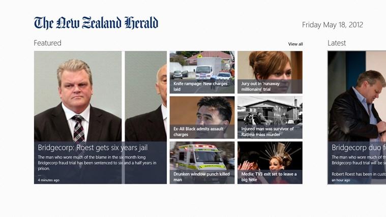 The New Zealand Herald screen shot 0