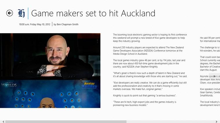 The New Zealand Herald screen shot 2