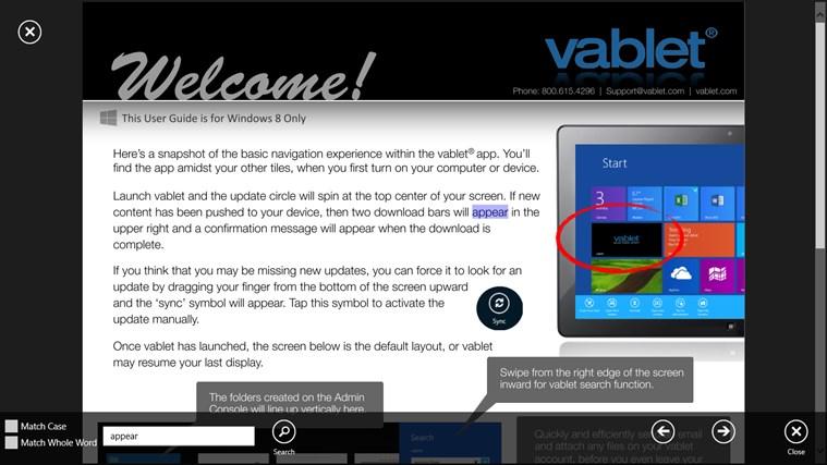 vablet screen shot 6