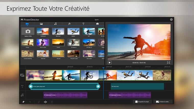 PowerDirector Mobile capture d'écran 2