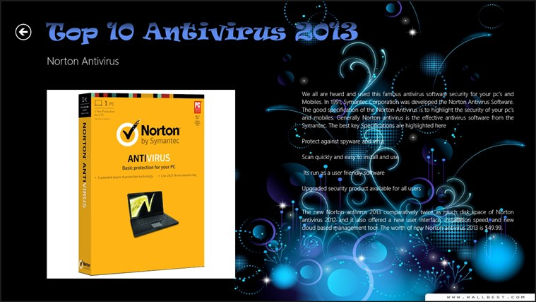 Top 10 Antivirus 2013 captura de pantalla 2