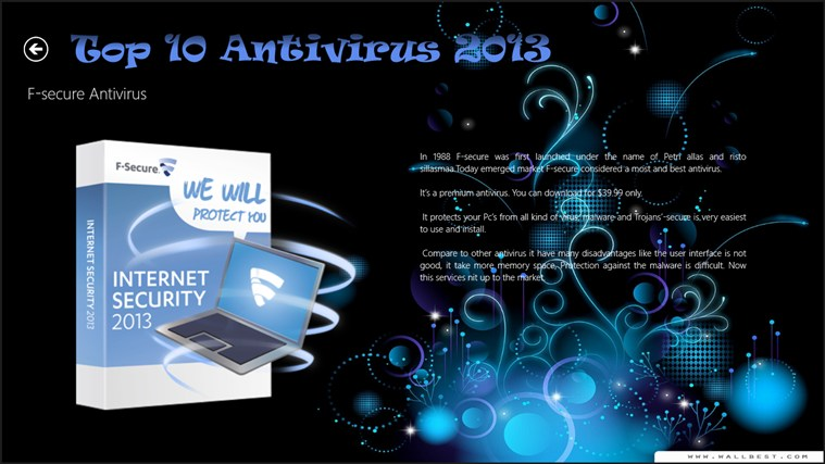 Top 10 Antivirus 2013 captura de pantalla 6