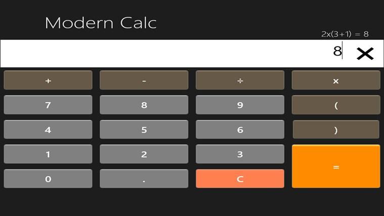 Modern Calc Ad Free snimka zaslona 0