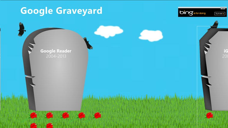 Google Graveyard screen shot 0