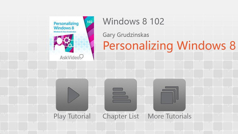 Windows 8: Personalizing Windows 8 لقطة شاشة0