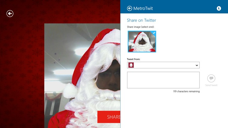 Santa Booth screen shot 2