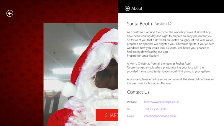 Santa Booth screen shot 4