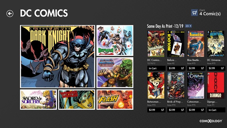 Comics screen shot 4