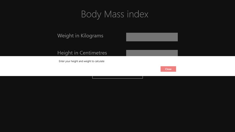 BodyMassIndex Screenshot 2
