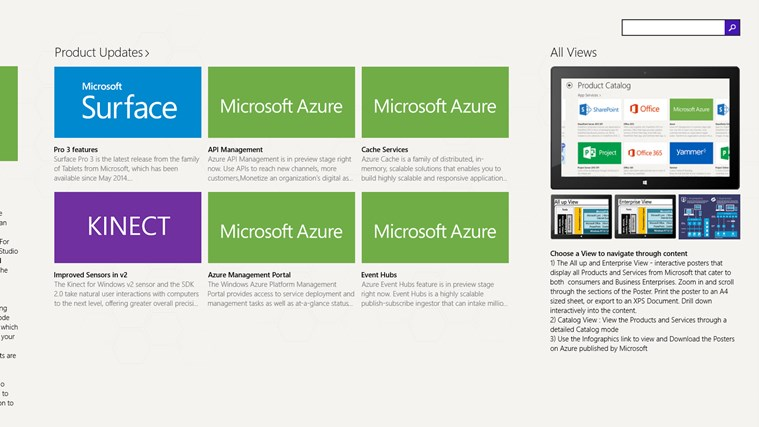 Products & Services Portfolio screen shot 2