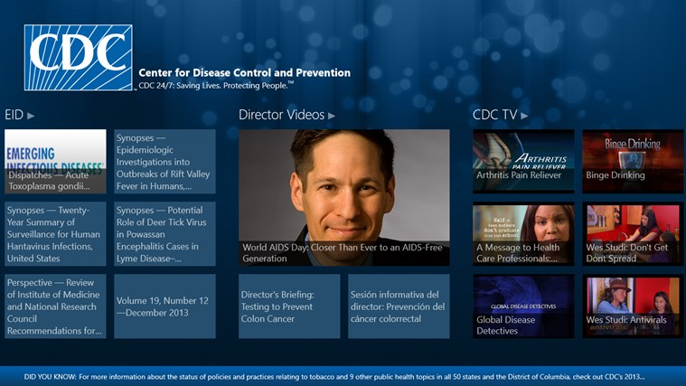 CDC screen shot 2