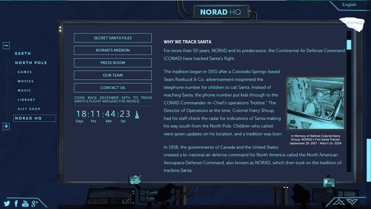 NORAD Tracks Santa screen shot 2