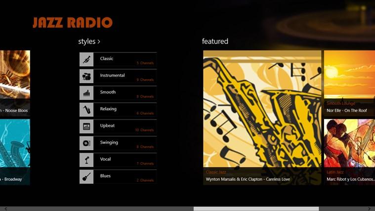 JazzRadio screen shot 2