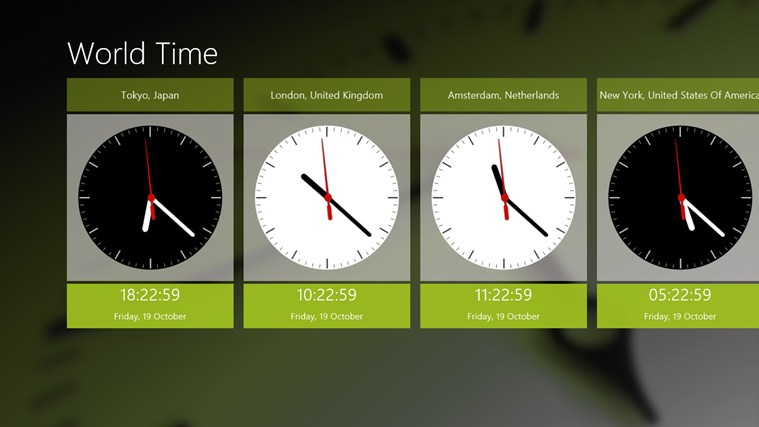 World Time screen shot 0