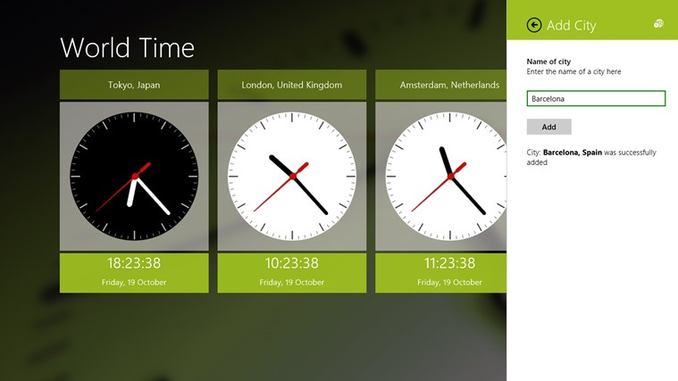 World Time screen shot 2