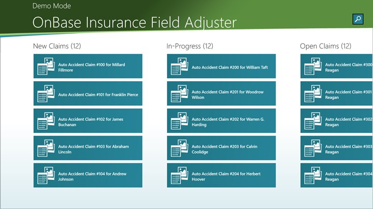 OnBase Insurance Field Adjuster screen shot 0