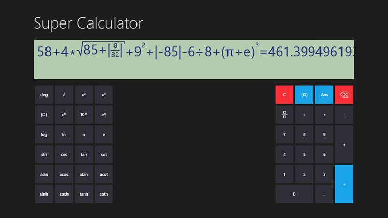 Super Calculator screen shot 0