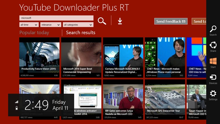 YouTube Downloader Plus RT screen shot 6