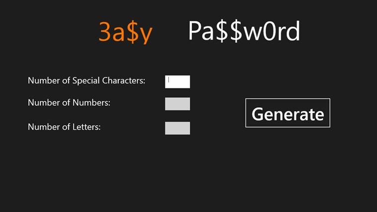 Easy Password screenshot