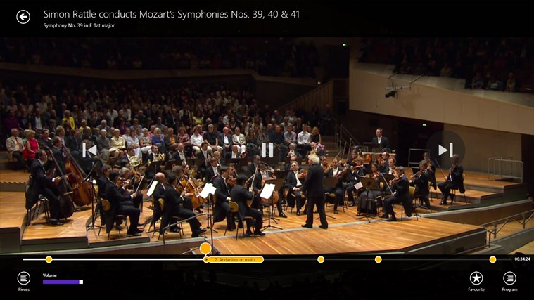 Digital Concert Hall screen shot 2