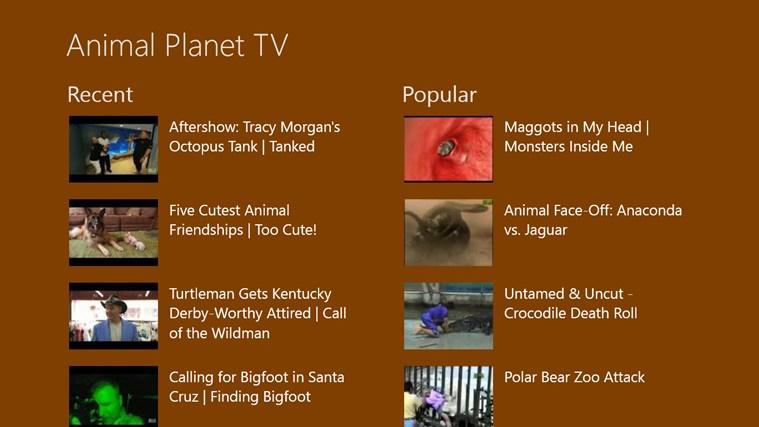 Animal Planet TV | Best Windows 8 Apps