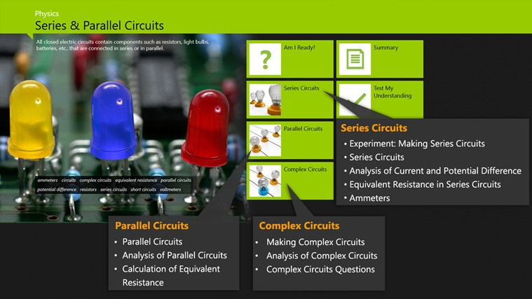 Physics: Series and Parallel Circuits screen shot 0