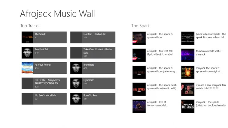 Afrojack Music Wall screen shot 0