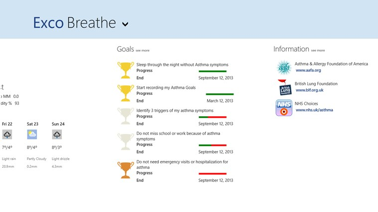 Exco Breathe screen shot 2