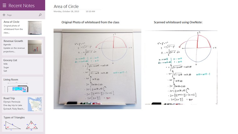 Onenote app for windows in the windows store