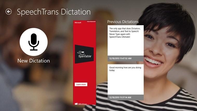 SpeechTrans Dictation screen shot 0