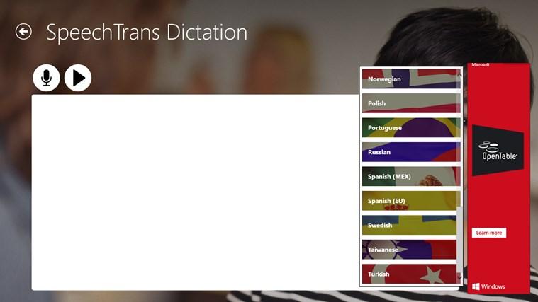 SpeechTrans Dictation screen shot 2