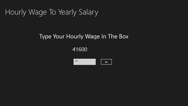 Hourly Rate To Annual Salary Converter