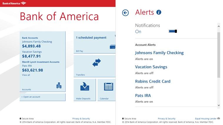 Bank of America screen shot 6