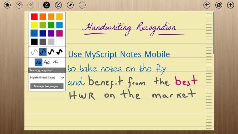 MyScript Notes Mobile screen shot 2