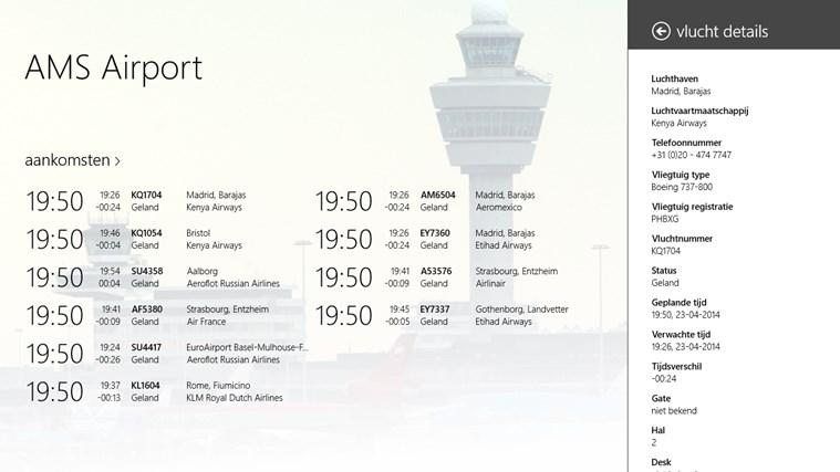 AMS Airport schermafbeelding 2