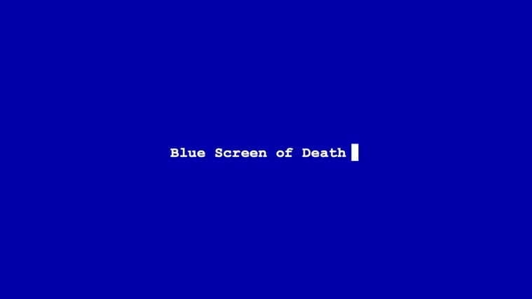 Blue Screen of Death screen shot 0