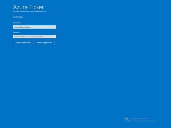 Azure Ticker screen shot 2