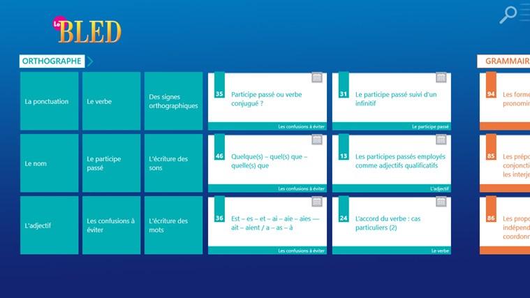 Le BLED Orthographe, Grammaire, Conjugaison screen shot 0