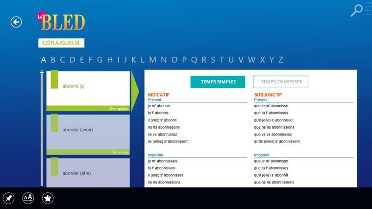 Le BLED Orthographe, Grammaire, Conjugaison screen shot 2