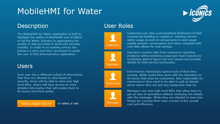 MobileHMI for Water screen shot 0
