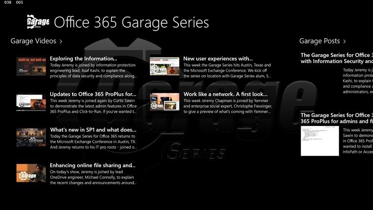 Office 365 Garage Series screen shot 0