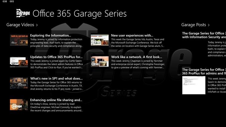 Office 365 Garage Series screen shot 0