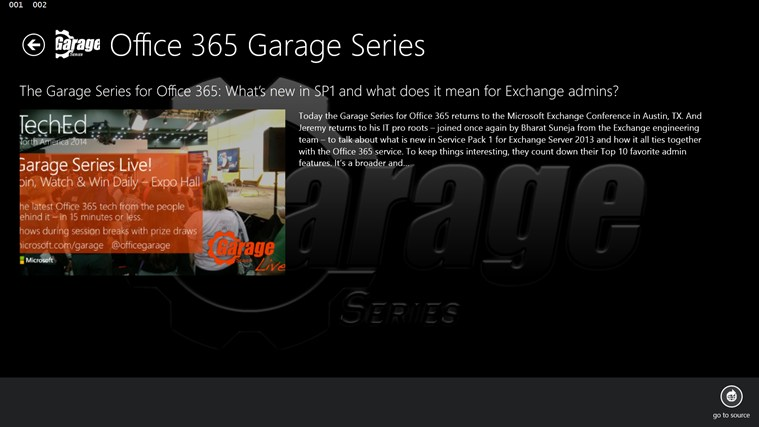 Office 365 Garage Series screen shot 2
