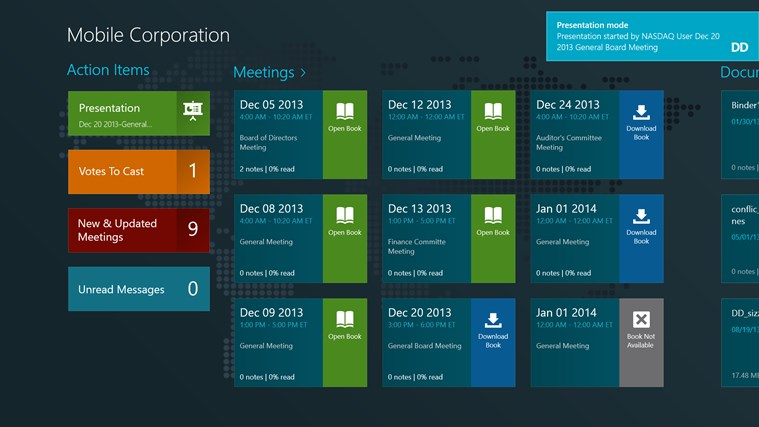 Directors Desk Windows 8 Edition screen shot 8