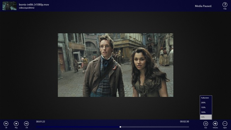 Metro Media Player captura de pantalla 4