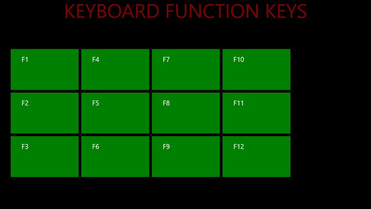 KEYBOARD FUNCTION KEYS screenshot 0