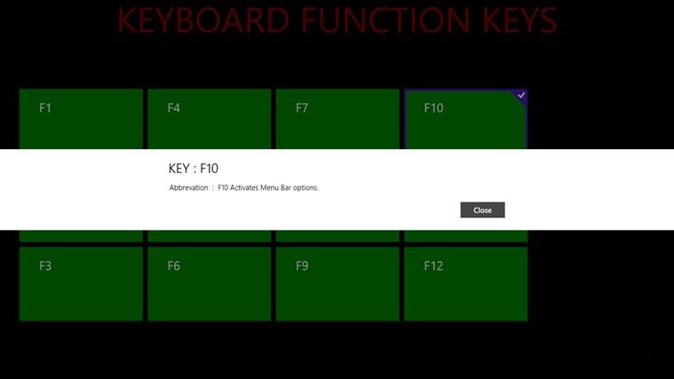 KEYBOARD FUNCTION KEYS screenshot 4