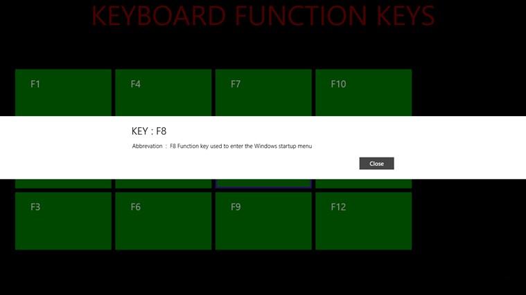 KEYBOARD FUNCTION KEYS screenshot 6